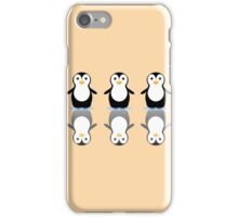 THREE PENGUINS ON ICE iPhone Case/Skin