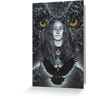 Raven Warrior  Greeting Card