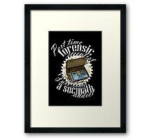 Full Time A Sociopath Addict Framed Print