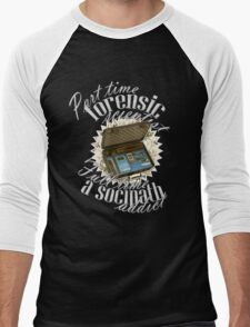 Full Time A Sociopath Addict Men's Baseball ¾ T-Shirt