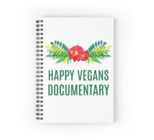 Official Happy Vegans Documentary Merch Spiral Notebook