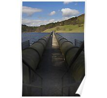 Pipes, Ladybower Reservoir. Poster