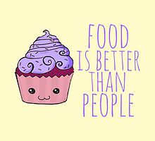 food is better than people - cupcake #2 by FandomizedRose