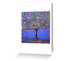 Trees and Rain Oil Painting Abstract Greeting Card