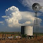 Windmills and Thunderstorms - Country Australia by Matthew Smith