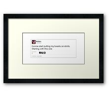 Tweets on Shirts Framed Print