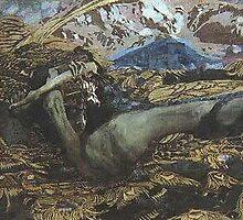 Vrubel...Demon Downcast..influences Comp 7..Kandinsky by tim norman