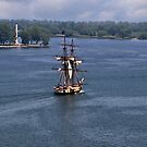 """Commodore Oliver Hazard Perry""""S Ship and Monument by Kathy Weaver"""