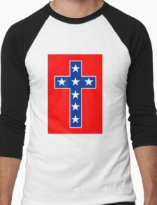 STAR SPANGLED CROSS Men's Baseball ¾ T-Shirt