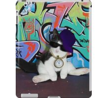 Cat Attitude...Kitten and Graffiti Wall iPad Case/Skin