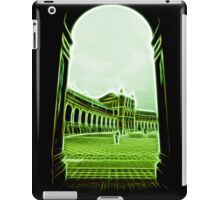 plaza de espana seville green neon lights iPad Case/Skin
