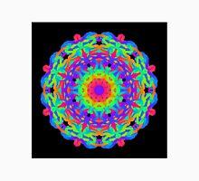 Neon Bright Kaleidoscope On Black Unisex T-Shirt