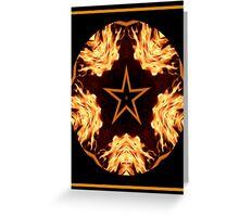 Flaming Star Kaleidoscope Greeting Card