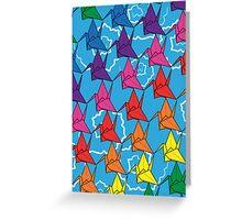 Paper Cranes Greeting Card