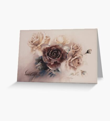 """""""Bouquet l"""" by Sara Moon Greeting Card"""