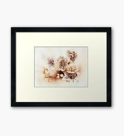 """Bouquet ll"" Oil on Canvas Framed Print"