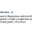 Stegosaurus Rap by Brittany Cofer