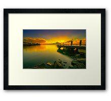 Sun rise at Eastern Beach Framed Print