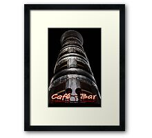 the Columbus Tower Cafe - Bar Framed Print
