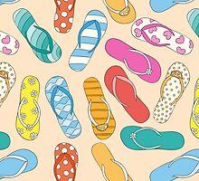 Sandals Pattern by KingdomofArt