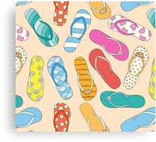 Sandals Pattern Canvas Print