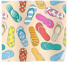 Sandals Pattern Poster