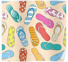 Sandals Pattern Poster