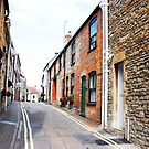 Stone and Brick - Cottages in a side street in Malmsbury by Daisy-May