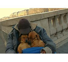 Paris - Just a little nap. Photographic Print