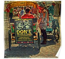 Street Life - DON'T do Home Piercing Poster