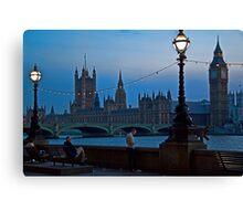 Twilight. London. England Canvas Print