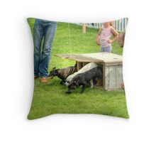 And They're Off....... Throw Pillow