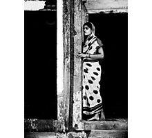 doorway - artist village, Orissa Photographic Print