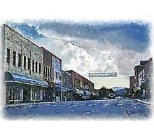 Street Banner in Historic Downtown Franklin, NC Photographic Print