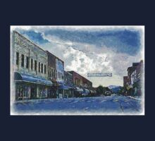 Street Banner in Historic Downtown Franklin, NC Kids Tee