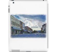 Street Banner in Historic Downtown Franklin, NC iPad Case/Skin