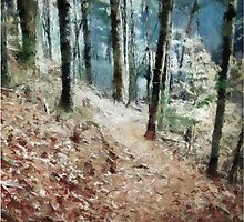 Woodland Trail by Jean Gregory  Evans