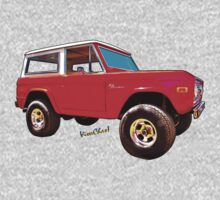 Ford Bronco Classic from VivaChas Hot Rod Art Baby Tee