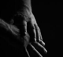 portrait of working man's hands... by Allan  Erickson