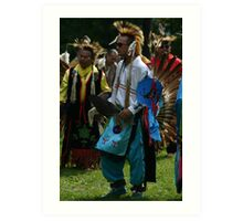 Male Pow Wow Dancer Art Print