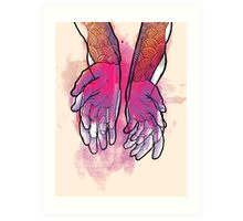 Dirty Hands Art Print