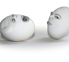 Egg heads - Cracked Egg and a Wink by Gravityx9