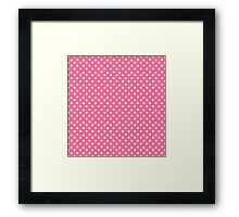 Vintage pink pattern with polka dots Framed Print