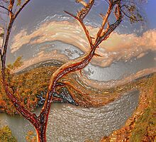 Mount Bonnell HDR in Plastic Wrap then Twisted by ijam357