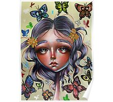 Chrysalis and Butterflies - Pop Surrealism Illustration Poster
