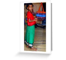 Girl From the Hill Tribes Greeting Card