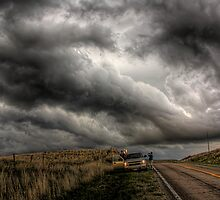 Scary skies over the road by Mike Olbinski