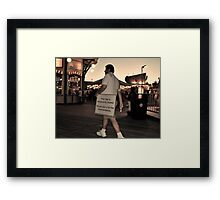 Temporarily Closed Framed Print