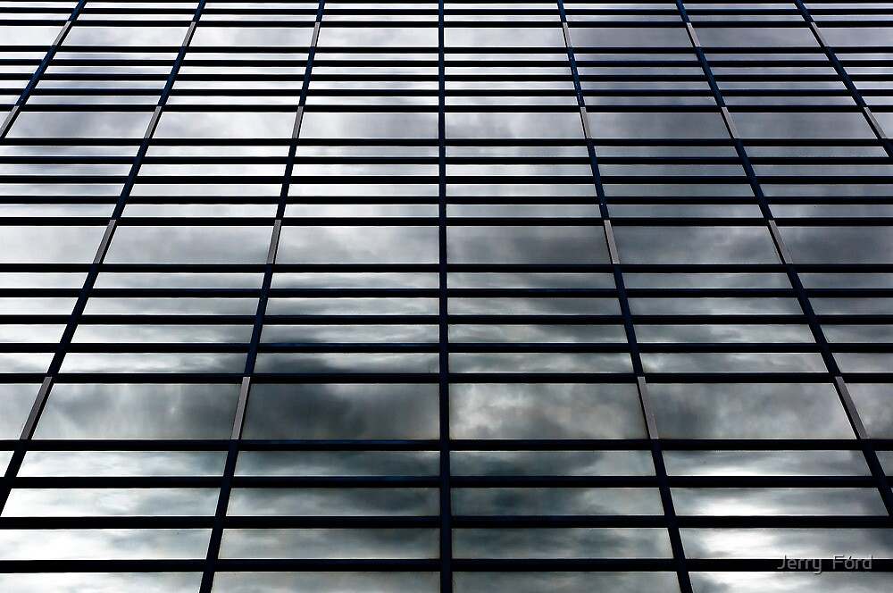 Grid of a Cloudy Day by Myron Watamaniuk
