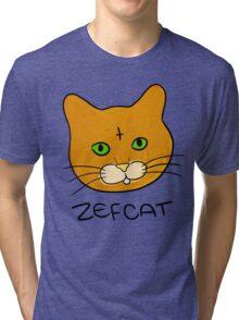 Zefcat (colour) Tri-blend T-Shirt